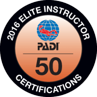 Viðurkenning PADI- PADI Elite Instructor 2016