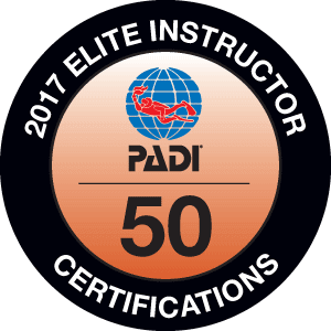 Viðurkenning PADI - PADI Elite instructor 2017