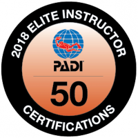 Viðurkenning PADI á kennslu- PADI elite instructor